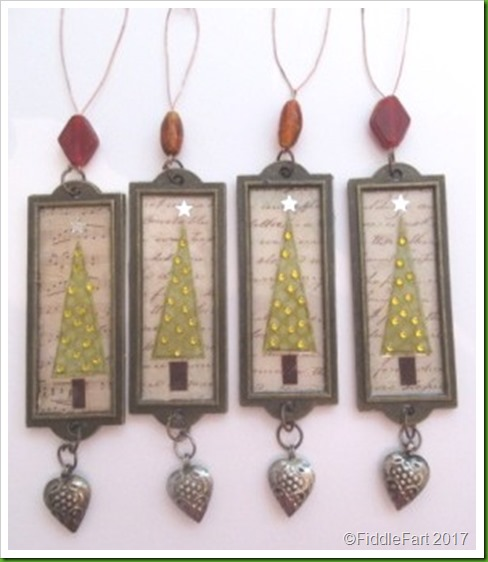Label Holder Bookplate Christmas Tree Decorations