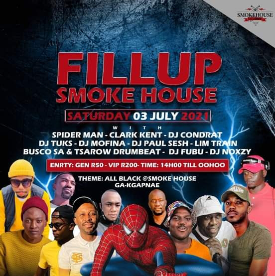 Busco and Tsarow Drumbeat with Spider Man to fill up smokehouse - 03 July 2021