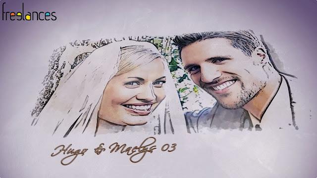 clip vidéo mariage thème dessine moi texte 03 photo 03