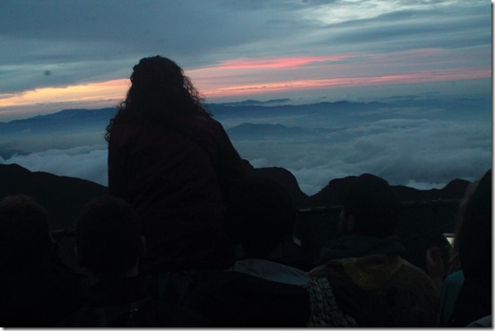 Пік Адама, схід сонця