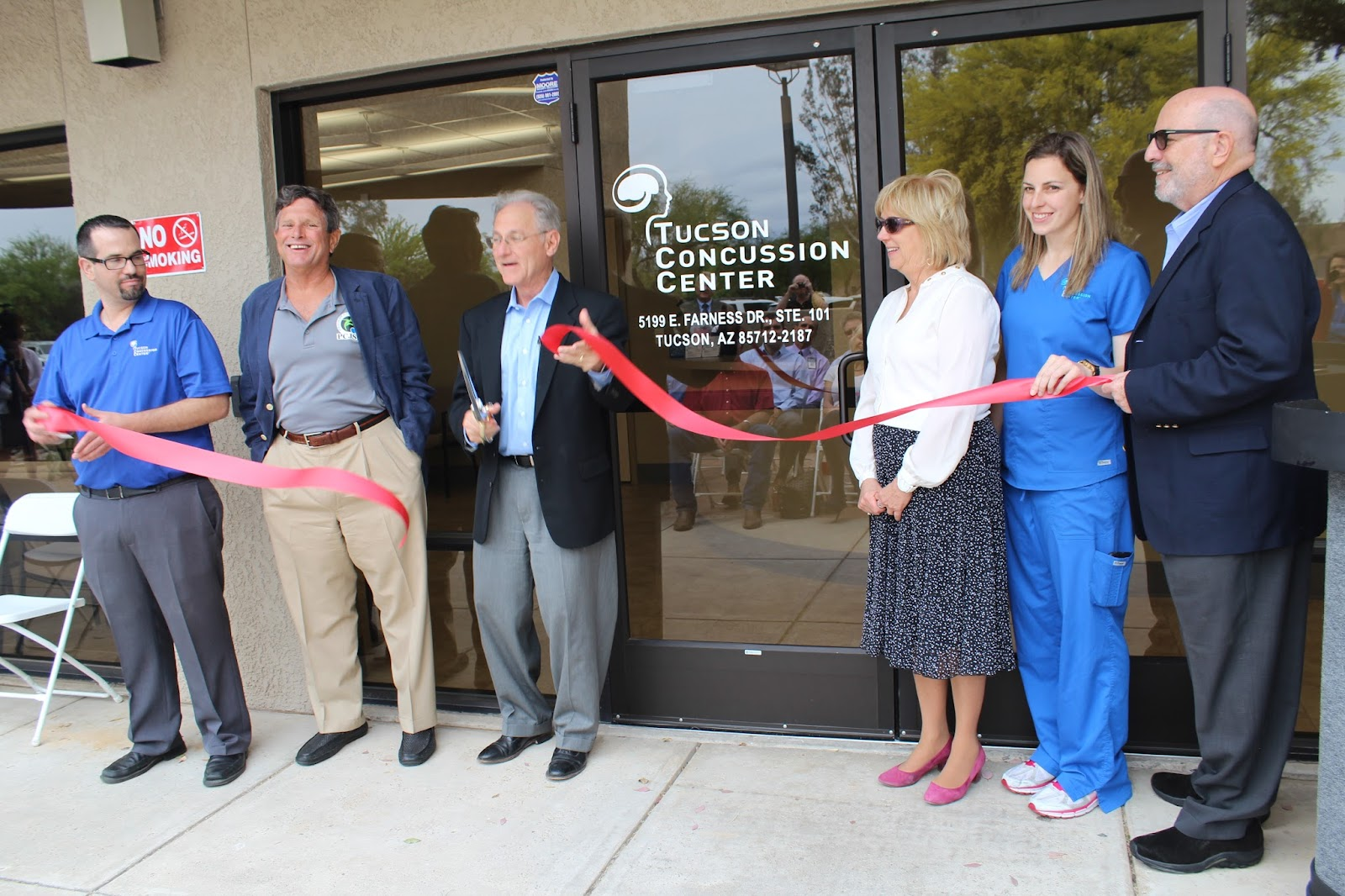 "Congratulations to Tucson Concussion Center located at 5199 E. Farness Drive #101, on their grand opening!   The Tucson Concussion Center's ""Under One Roof"" platform is the first of its kind in Southern Arizona addressing the unmet need for efficient multidisciplinary assessment, diagnosis and comprehensive treatment of head injuries. TCC's programs emphasize community awareness, demographic specific prevention, education and state of the art baseline tests and assessment."