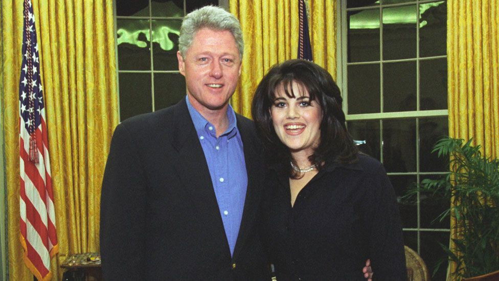 Monica Lewinsky who had an affair with Bill Clinton, says he should apologize to her even though she doesn't need it