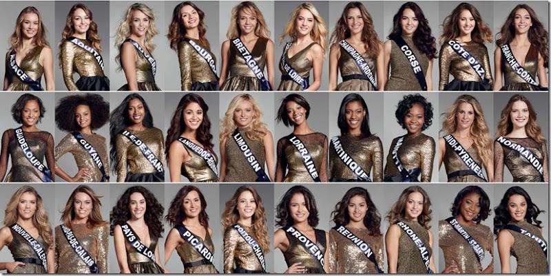 les 30 candidates de miss france 2017