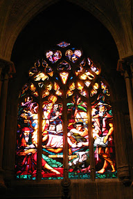 West stained glass window, Lausanne Cathedral