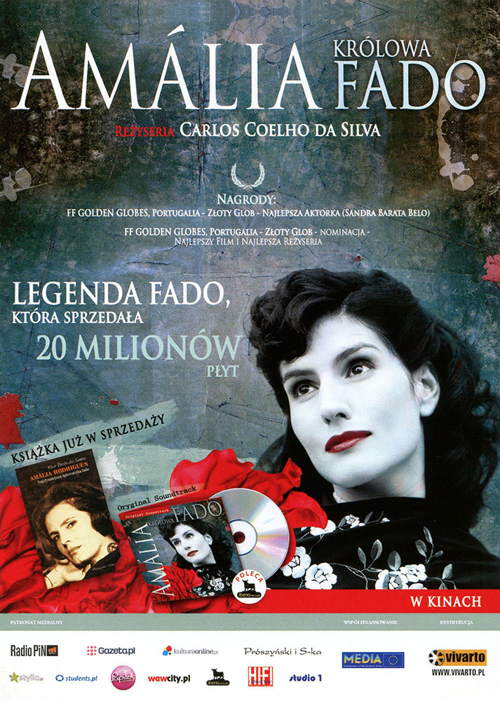 Ulotka filmu 'Amalia. Królowa Fado (przód)'