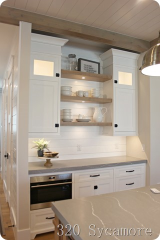 modern coastal farmhouse kitchen wood white