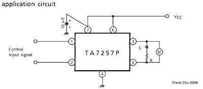 TA7257P接正反向的直流馬達