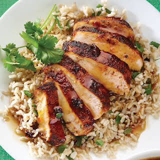 Orange Chipotle Chicken with Cilantro Rice.