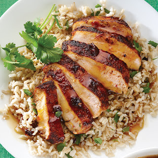 Orange Chipotle Chicken with Cilantro Rice.