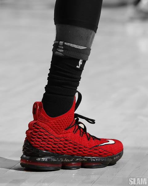 big sale 6879a de6f5 LBJ Hit Another Game Winner in Nike LeBron 15 'Griffey' Pt ...