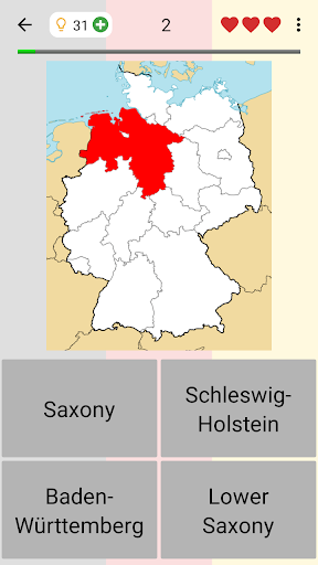 German States - Flags, Capitals and Map of Germany 2.1 screenshots 7
