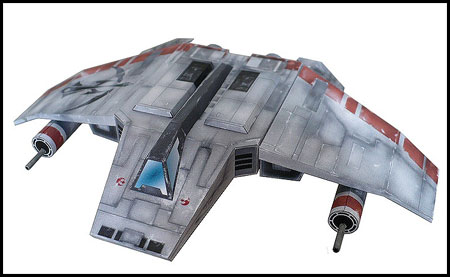 Star Wars V-wing Papercraft