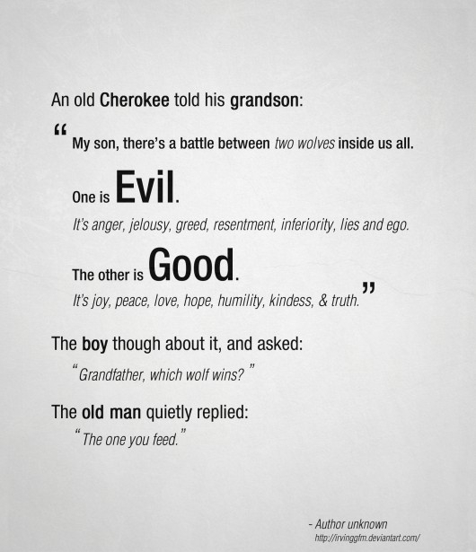Evil VS Good - Wise Word