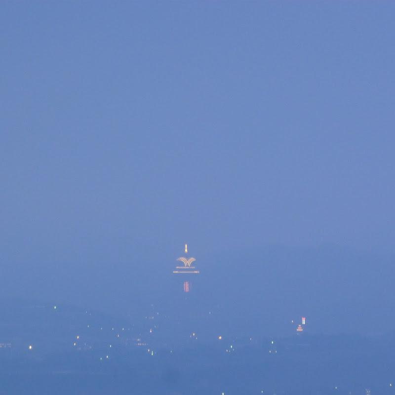Chung Tai Chan Temple. L'appareil photo transforme tout seul le ciel en bleu....