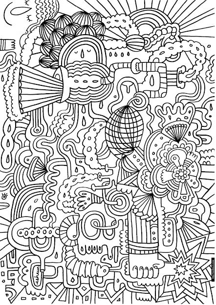 Printable Coloring Pages Adults Abstract Flowers