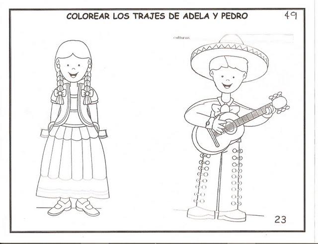 Mexico Para Colorear