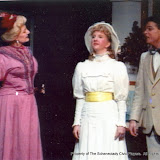 Pat Timm, Sara L. Melita and David Finkle in THE IMPORTANCE OF BEING EARNEST (R) - December 1989.  Property of The Schenectady Civic Players Theater Archive.