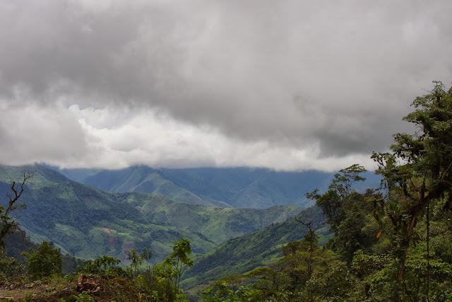 Vue vers le Sud depuis la piste de Gualchan à Chical, 1900 m (Carchi, Équateur), 22 novembre 2013. Photo : J.-M. Gayman