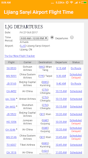 Lijiang Sanyi Airport Flight Time - náhled