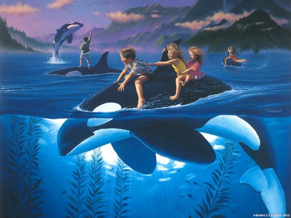 Riding The Dolphin, Magical Landscapes 2