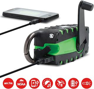 Eton Scorpion : charger, senter, radio
