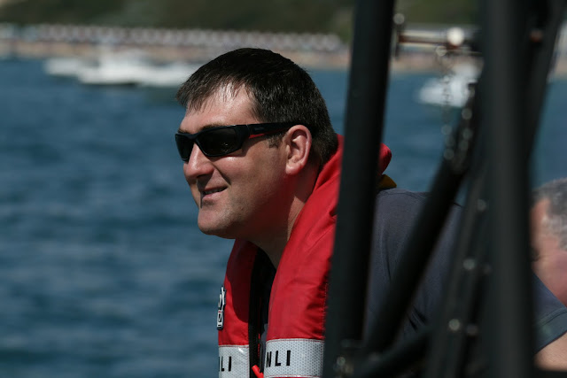 Mechanic Paul Taylor enjoying the sunshine on deck for a change!