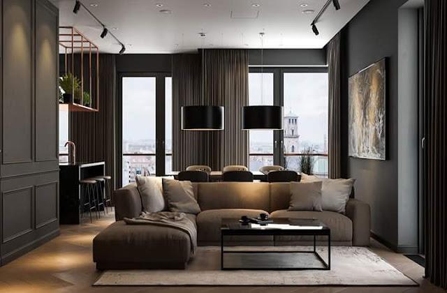 Gambar Desain Interior Rumah Minimalis Modern Warna Gelap Gambar Desain Interior Rumah Minimalis Modern Warna Gelap