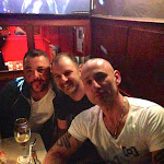 at bar with Werner, Stephen and Olaf.JPG