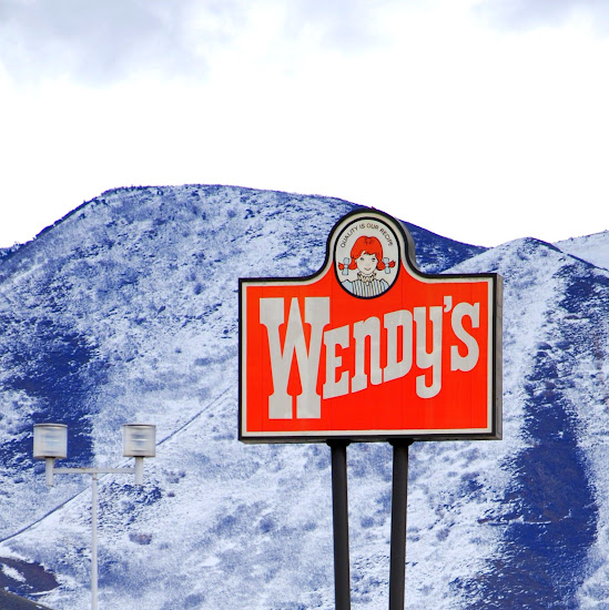 A Wendy's sign in Salt Lake Valley, Utah
