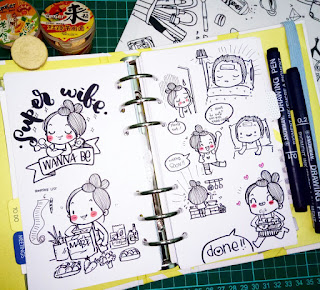 Tips membuat doodle journal