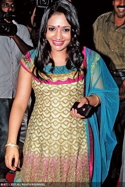 Rimi Tomy looks gorgeous during the wedding reception of Singer Ranjini Jose and Ram Nair, held in Kochi.