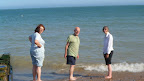 Paddling at Eastbourne at the end of a walk. Aug 2012.jpg