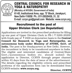 CCRYN Recruitment 2016 indgovtjobs