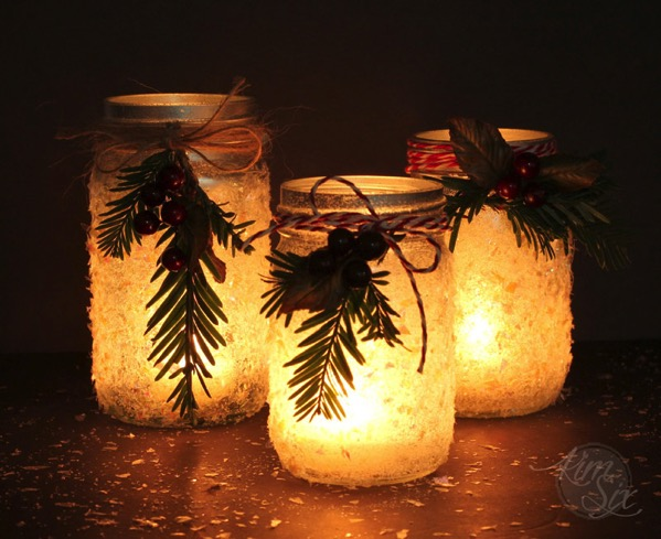 Mason Jar iced candles