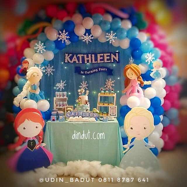 dekorasi frozen untuk ulang tahun