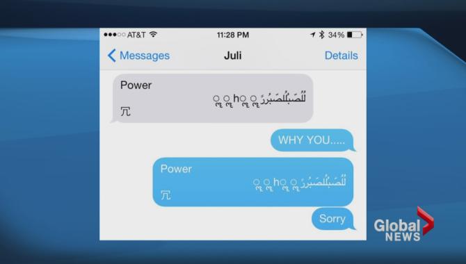 Chỉ ít lâu sau khi Apple lên tiếng thừa nhận về lỗi ký tự Arab gây