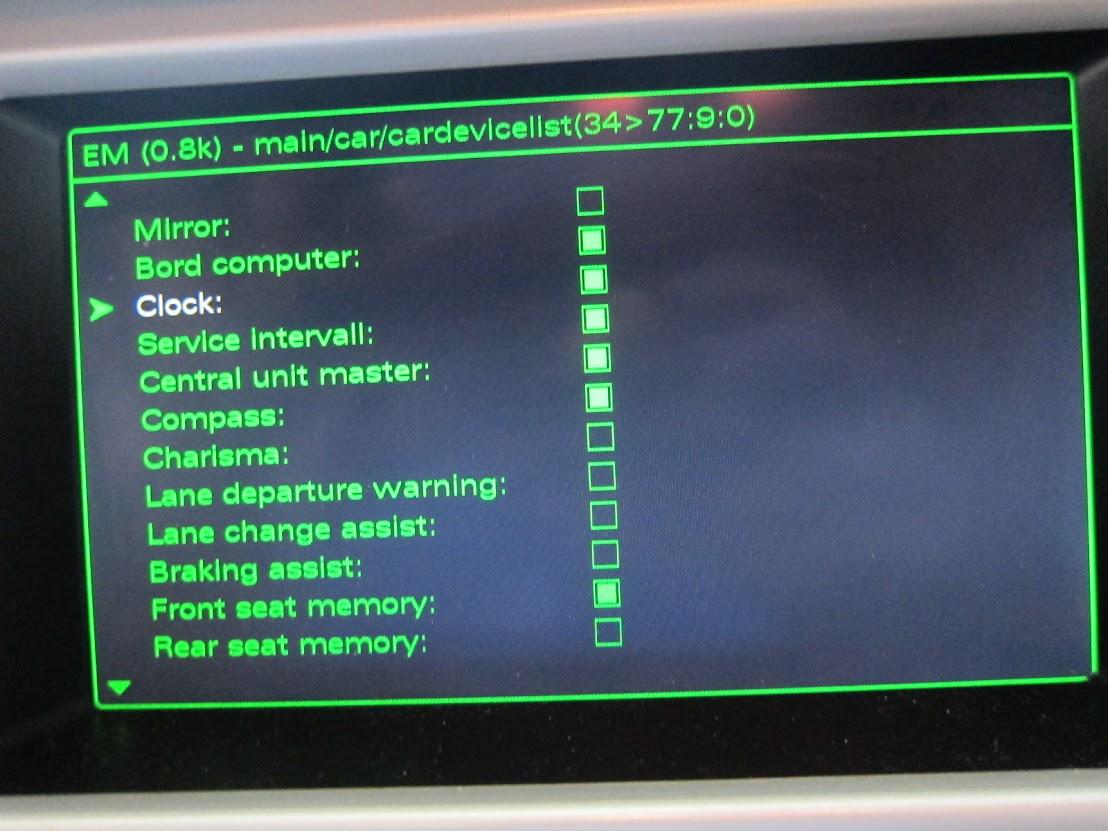 Unlocked MMI Hidden menu, lost clock settings - AudiWorld Forums