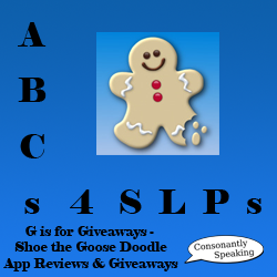 ABCs 4 SLPs: G is for Giveaways - Shoe the Goose Doodle Application Reviews and Giveaways image