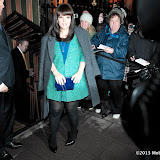 WWW.ENTSIMAGES.COM -   Lily Allen  arriving at    The Charles Finch & Chanel Pre-BAFTA Dinner at Annabel's in Berkeley Square London February 9th 2013                                                      Photo Mobis Photos/OIC 0203 174 1069