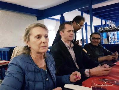 Diner après l'AG 2017 avec Catherine Guilleret, Bertrand Vecten et Henri Hélal.