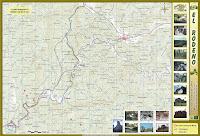 Mapa del río Cabriel a su paso por Boniches junto con los puntos mas representativos que pueden visitarse.  Puede descargarse en www.serraniadecuenca.net
