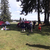 Tents up...time to play