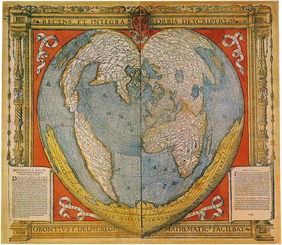 Heart Shaped World Map 1536