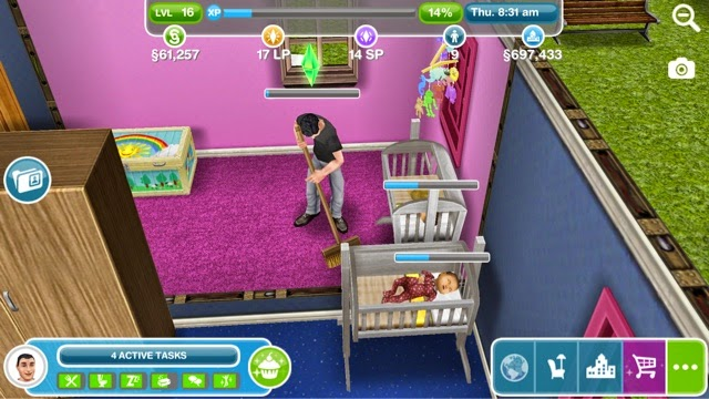 Sims freeplay lunar new year day 6 greenoid gemzicle for Baby bathroom needs sims freeplay