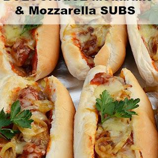 Bolognaise Meatballs and Mozzarella Subs.