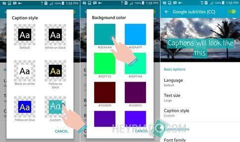 Mengaktifkan subtitle film otomatis di Android Cara Mengaktifkan Gaya Subtitle Film Otomatis di Android