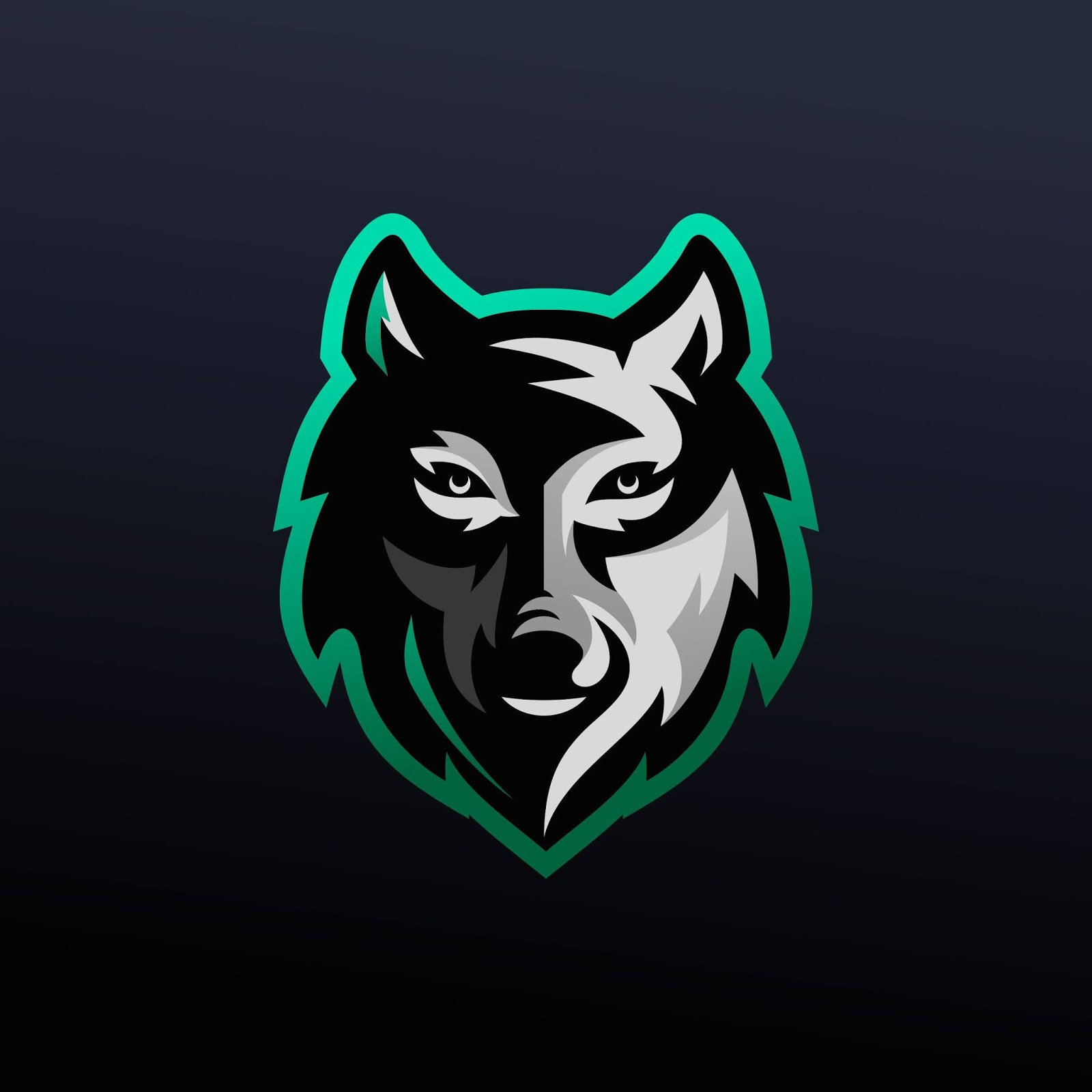 Wolf E Sports Logo Funny Free Download Vector CDR, AI, EPS and PNG Formats