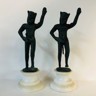 Mythical Statue Pair