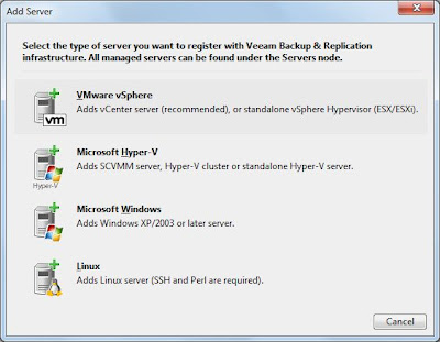 Agregar servidor ESXi a Veeam Backup & Replication