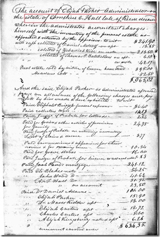 HALL_Cornelius Clark_probate_New Hampshire_pg 2_inventory_annotated